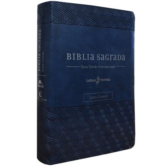 Bíblia NVI com espaço para anotações (Luxo - Azul)