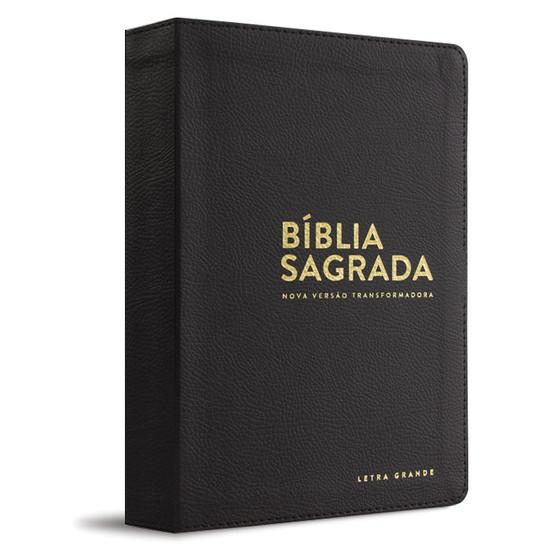 Bíblia NVT - Letra grande (Luxo - Preta)