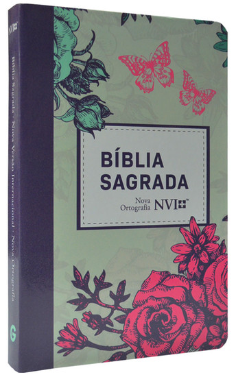 Bíblia NVI Grande (Semi-luxo Lilás Floral)