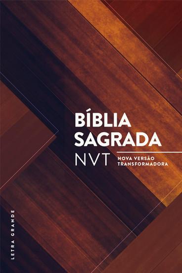 Bíblia Sagrada NVT (Madeira Triângulos)