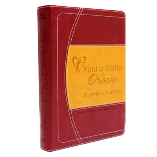 Minha Bíblia de Oração - NVI (Vinho/Laranja)