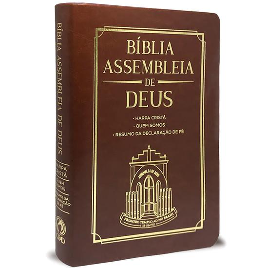 Bíblia Assembleia de Deus - Marrom (Capa Igreja)