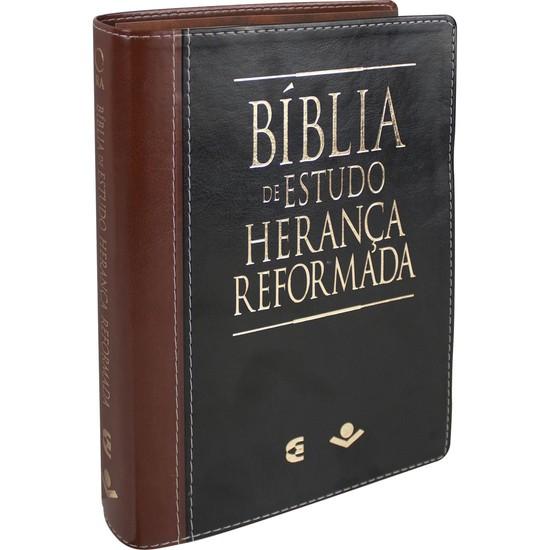 Bíblia de Estudo Herança Reformada (Luxo Preta e Marrom)
