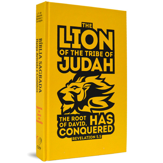 Bíblia Jovem com Harpa - ARC (Capa Dura - Lion of Judah)