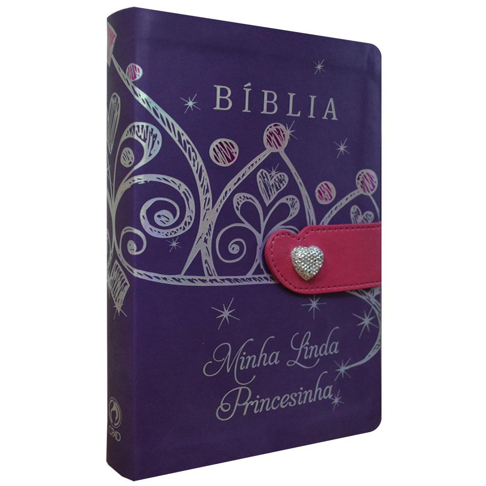 Bíblia Minha Linda Princesinha (capa flexível com fecho)
