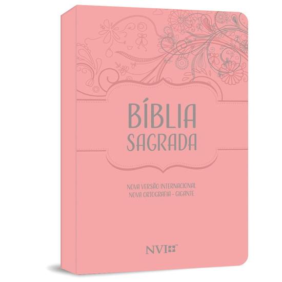 Bíblia Sagrada NVI Gigante - Capa Luxo Rosa
