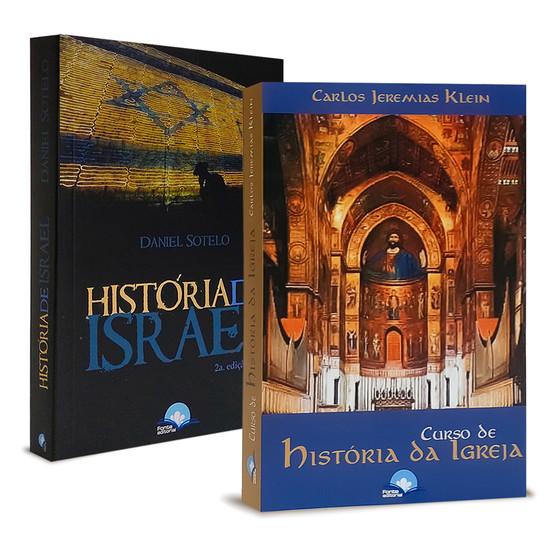 Combo 2 livros História de Israel e História da Igreja