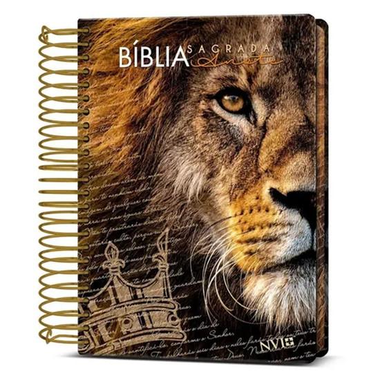 Bíblia NVI - Com Espaço Para Anotações Espiral - Capa Leão