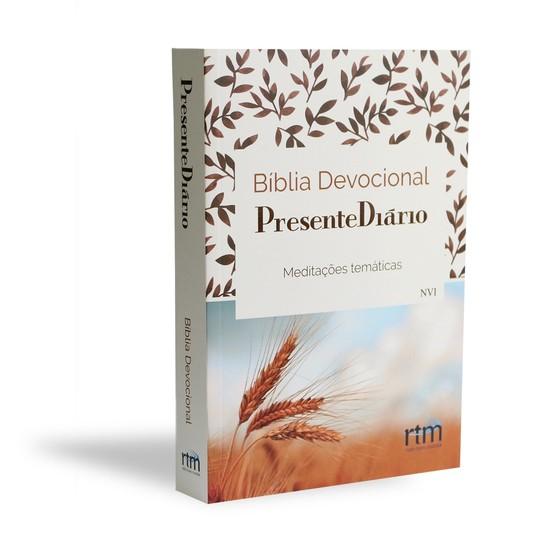 Bíblia Devocional Presente Diário - Capa Trigo