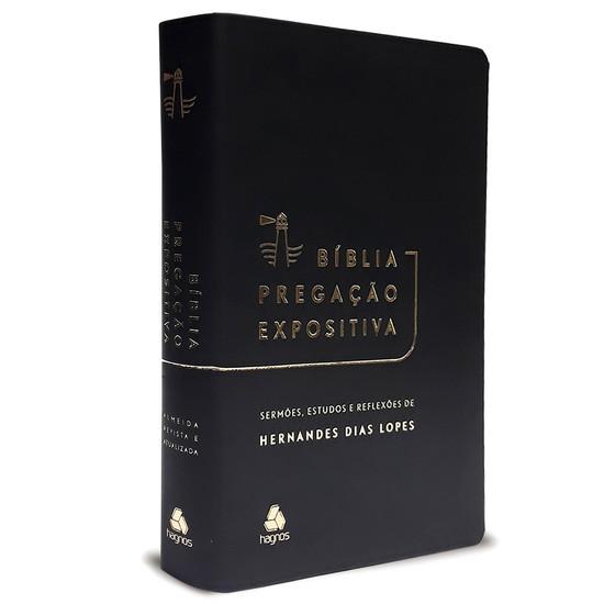 Bíblia Pregação Expositiva - Luxo Preta