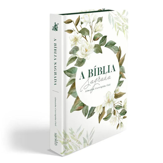 Bíblia ACF Magnólia Branca - Letra Grande