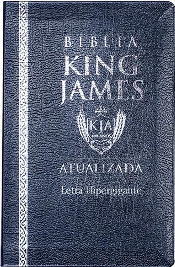 Bíblia de Estudo King James Atualizada - Coverbook Azul