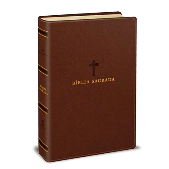 Bíblia Sagrada ACF - Letra Grande - Leitura Perfeita - Capa Luxo Marrom