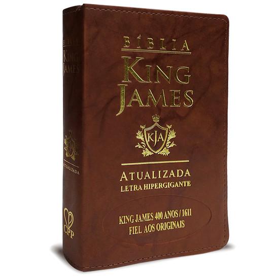 Bíblia King James Atualizada 400 Anos - Hiper Gigante - Luxo Marrom