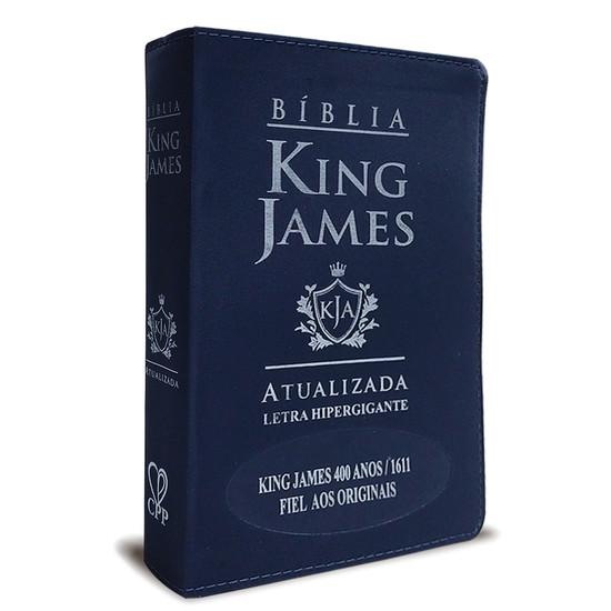 Bíblia King James Atualizada 400 Anos - Hiper Gigante - Luxo Azul