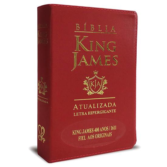 Bíblia King James Atualizada 400 Anos - Hiper Gigante - Luxo Vinho
