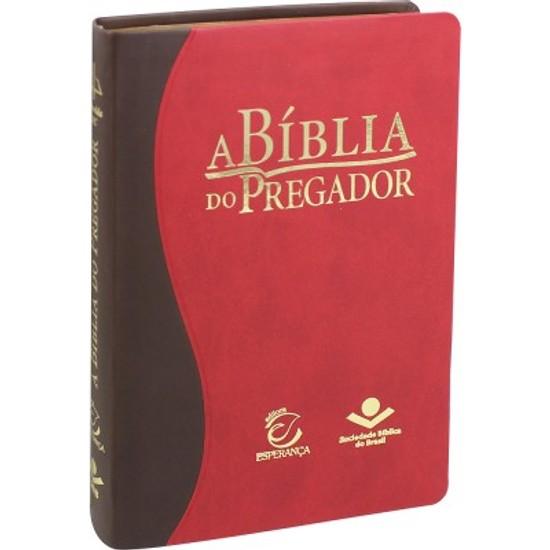 A Bíblia do Pregador (Média | Marrom e Vermelho)