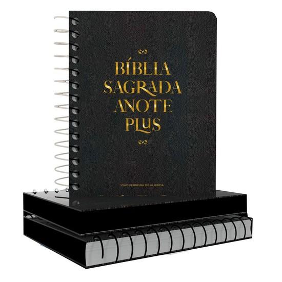 Bíblia Anote Plus Espiral Letra Maior - Preta