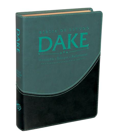 Bíblia de Estudo Dake (Luxo Verde e Preto)