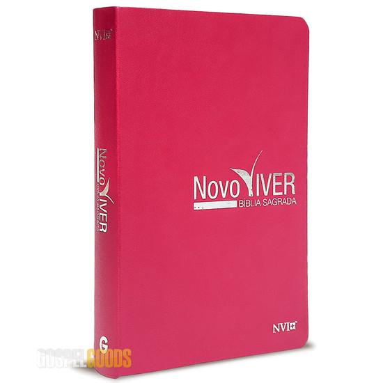 Bíblia de Estudo Novo Viver - Rosa (NVI)