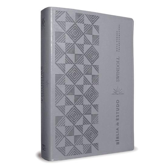 Bíblia de Estudo Swindoll - NVT - Letra Grande (Capa cinza)