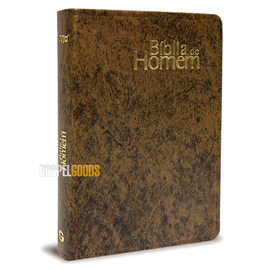 Bíblia do Homem (Capa Luxo Marrom)