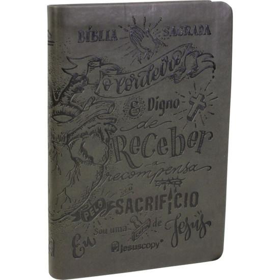 Bíblia JesusCopy - NAA (Luxo Cinza)