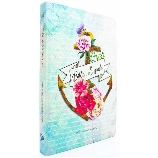 Bíblia Jovem ACF Slim - Capa Âncora Flores