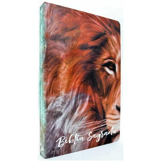 Bíblia Jovem ACF Slim - Capa Leão Textura