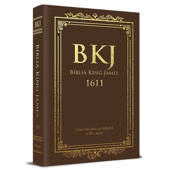 Bíblia King James 1611 Com Concordância (Luxo Marrom)