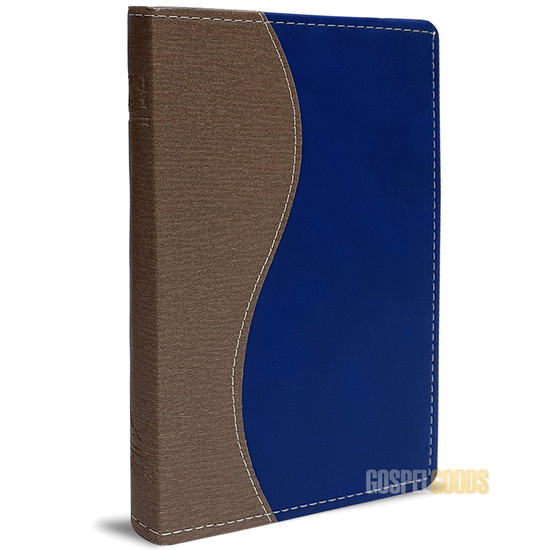 Bíblia King James 1611 (Slim - Marrom e Azul)