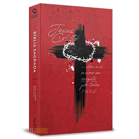 Bíblia NAA Cruz de Cristo (Vermelho)