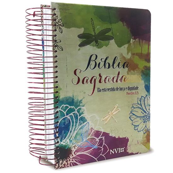 Bíblia NVI - Com Espaço Para Anotações Espiral - Provérbios 31:25