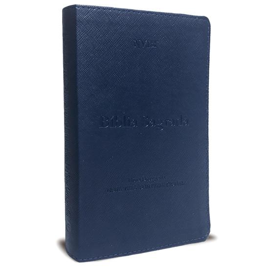 Bíblia NVI com índice Luxo Azul
