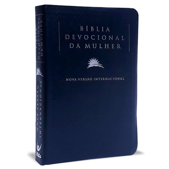 Bíblia NVI Devocional da Mulher - Luxo Azul