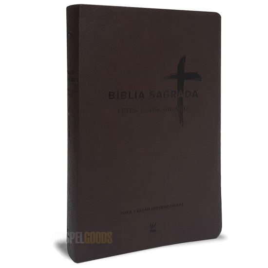 Bíblia NVI Letra Extra Gigante (Capa PU Marrom)