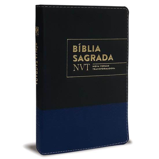Bíblia NVT - Com índice lateral (Preta e Azul)