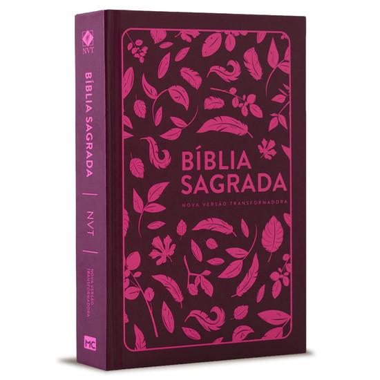 Bíblia NVT - Folhas - Pink