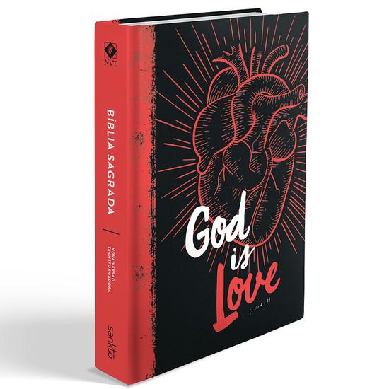 Bíblia NVT  God is Love 2.0 (Vermelha)