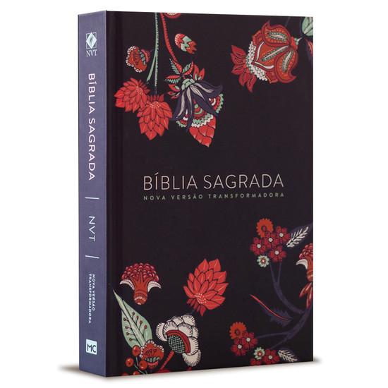 Bíblia NVT Indian Flower - Capa Azul