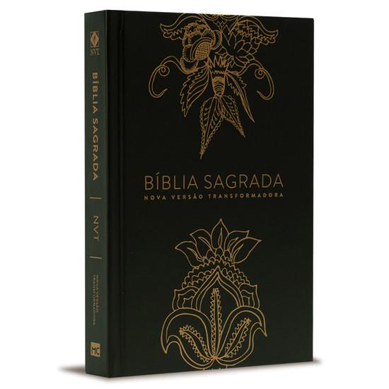 Bíblia NVT Indian Flower - Capa Dourada