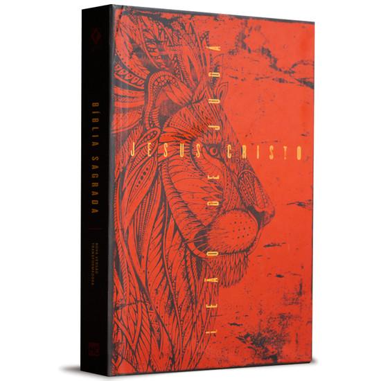Bíblia NVT - Leão de Juda - Vermelho
