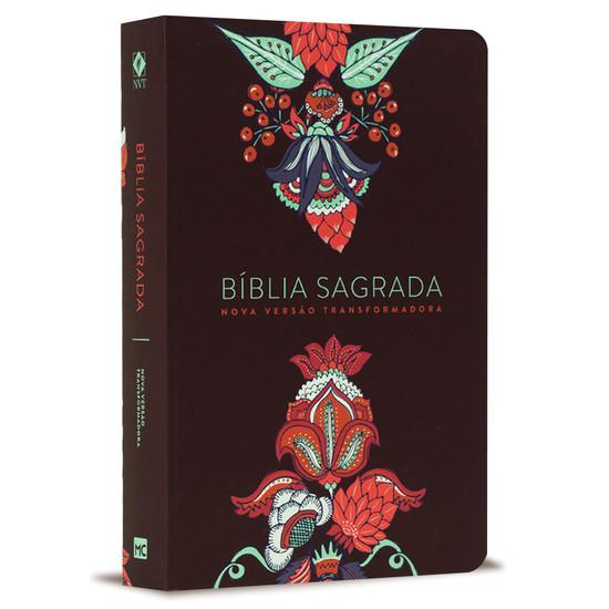 Bíblia NVT - Letra Grande - Indian Flower - Vinho