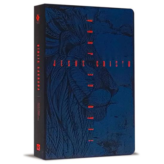 Bíblia NVT Letra Grande - Leão de Judá (Azul)
