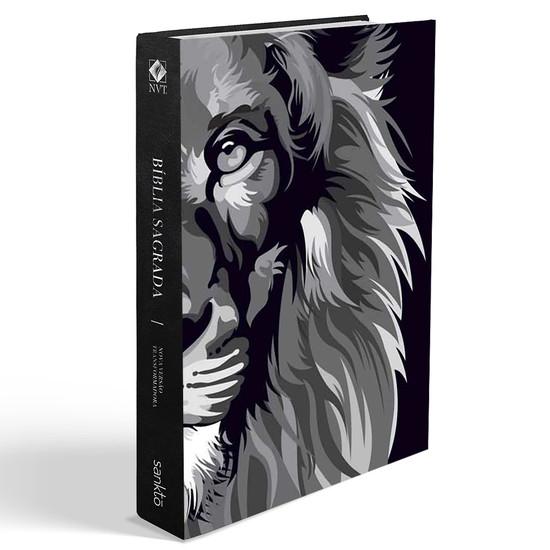 Bíblia NVT Lion Colors - Black & White