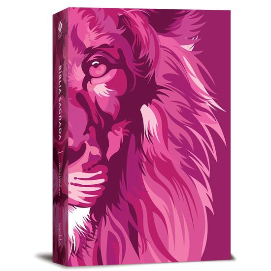 Bíblia NVT Lion Colors - Pink
