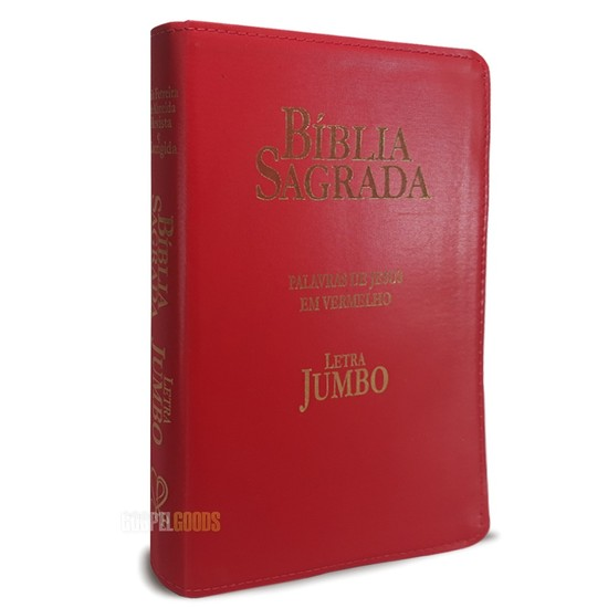 Bíblia Sagrada com Letra Jumbo c/ Índice - Luxo Vermelha