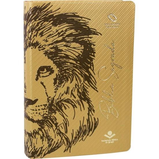 Bíblia Sagrada Leão - Luxo Dourado