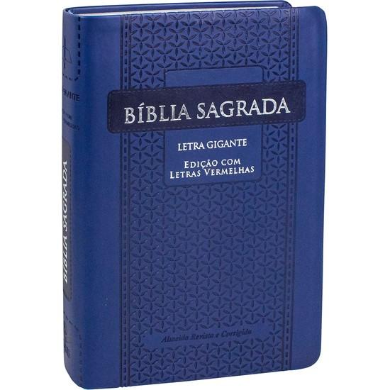 Bíblia Sagrada RC Letra Gigante (Luxo Azul)