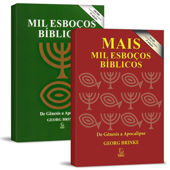 Combo 2 Livros 2000 Esboços Bíblicos